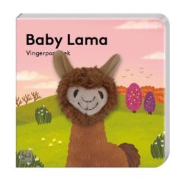 Vingerpopboekje wilde dieren - Lama