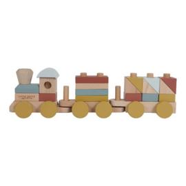 Houten speelgoed Little Dutch - Blokkentrein Pure Nature