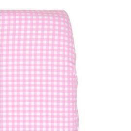 Ledikant hoeslaken Little Dutch - roze met witte ruitjes