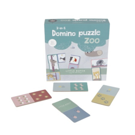 Baby speelgoed houten domino puzzel Little Dutch - Zoo