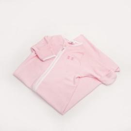 Slaapzak met krabwantjes Beeren roze gestreept 50/68