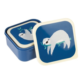 Kinder lunchbox set van 3 Rex London - Sydney the Sloth