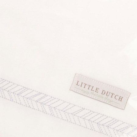 Wieglaken Little Dutch geborduurd Grey Leaves