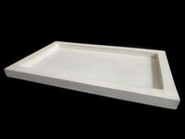 Klein houten dienblad, wit