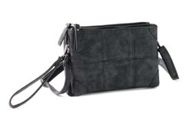 Alkmaar schoudertasje en clutch, zwart