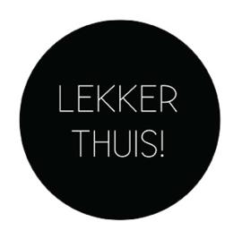 Onderzetter LEKKER THUIS, Label-R