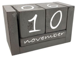 Kalenderblokken grijs