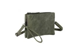 Alkmaar schoudertasje en clutch, groen