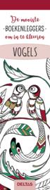 Boekenleggers om in te kleuren, vogels