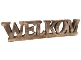 WELKOM van naturel hout