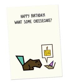 Kaart happy birthday, CUBY