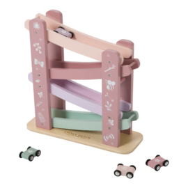 Houten autobaan roze, Little Dutch