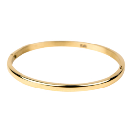 Armband bol glans M goud 4 mm/ 58 mm