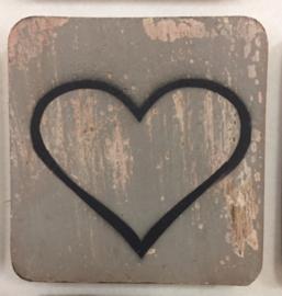 Houten symbool open hart