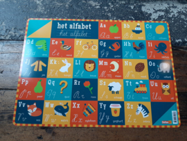 Placemat het alfabet