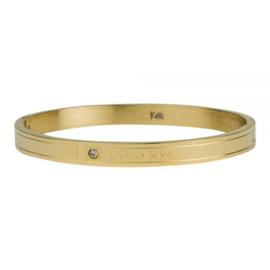Armband Carpe Diem goud M 6 mm/ 58 mm