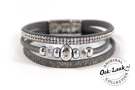 3-lijns armband, grijs