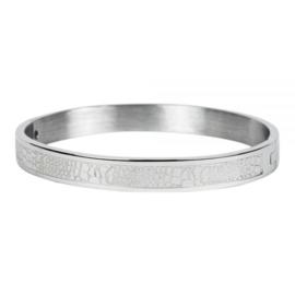 Armband slangenpint zilver M 6 mm/ 58 mm