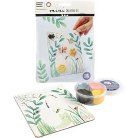 3D tafereeltje de bloempjes en de bijtjes