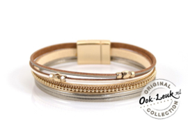 beige-goudkleurige speelse armband Becky