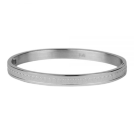 Armband gestipt zilver M mm/ 58 mm