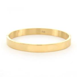 Armband glans goud  M 8 mm/ 58 mm