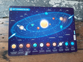Placemat het zonnestelstel