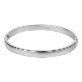 Armband bol mat L zilver 6 mm/ 63 mm