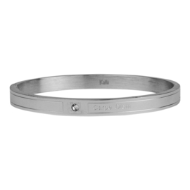 Armband Carpe Diem zilver M 6 mm/ 58 mm