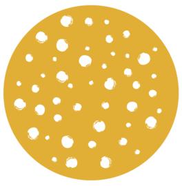 Muurcirkel dots okergeel  28 cm, Label-R