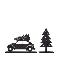 Houten auto met kerstboom, ZOEDT