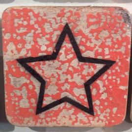 Houten symbool open ster