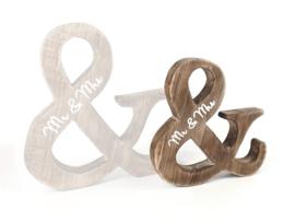Mr & Mrs van naturel hout, small