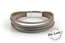 Klassieke armband, zilverkleurig