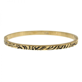 Armband tijgerprint goud M 4mm/ 58 mm