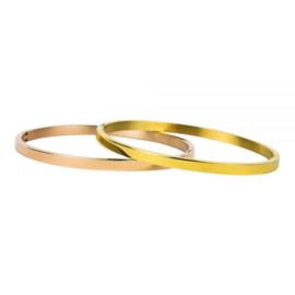 Armband glans M goud 4 mm/ 58 mm