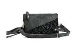 New Jersey heup - en schoudertasje/clutch, zwart