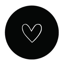 Onderzetter hart zwart, Label-R