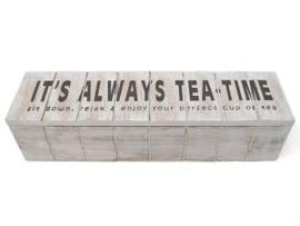 Theedoos IT'S AlWAYS TEA-TIME, wit