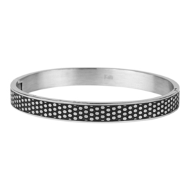 Armband dots zilver 8mm/ 63 mm