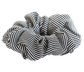 Scrunchie stripe black, LOVE IBIZA