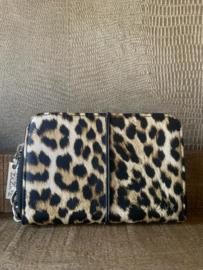 Portemonnee luipaardprint taupe, ZAZA'Z
