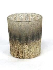 Waxinelichthouder goud/grijs S