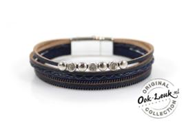 Luxe armband donkerblauw