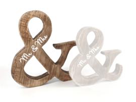 Mr & Mrs van naturel hout, Large
