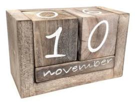 Verjaardagskalenders en kalenderblokken