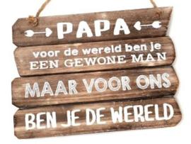 Houten tekstbord PAPA, naturel