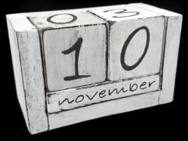 Kalenderblokken wit