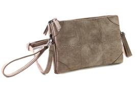 Alkmaar schoudertasje en clutch, taupe