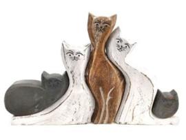 Kattenfamilie 25x40 cm